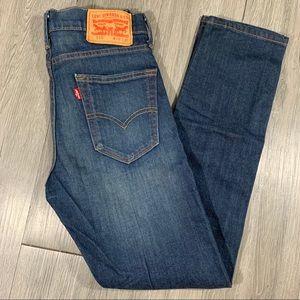 Levi's Medium Wash. 510 Slim Jeans size 28x30